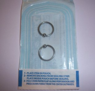 sterile body jewelry for piercing there is no substitute